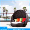 China Supplier Unique Design Outdoor Hotel Patio Rattan Wicker Sunbed