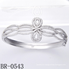 Fashion Silver Micro Pave CZ Setting Jewelry Bracelet Br-0543)