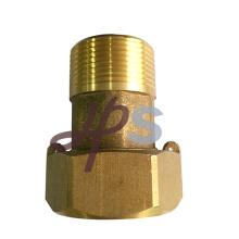 Fabricante del tailpiece del metro del agua de cobre amarillo de la forja