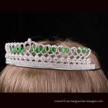Corona del cristal del desfile del rhinestone del diseño del corazón
