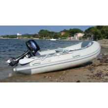 Barco inflable de PVC popular para pescar o trabajar