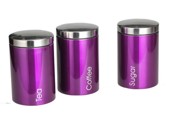 With Words Purple Canister