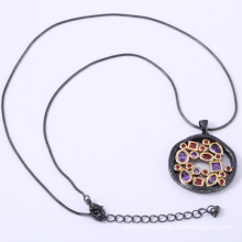 925 sterling silver pendants with gold black plating