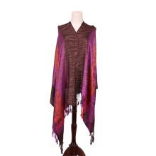 Viscose Novo Design Buquê Púrpura Pashmina De Senhoras Shawl