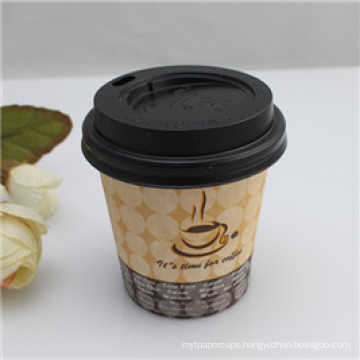 8oz 10oz 12oz Wholesale Disposable Paper Cup with Custom Made Printed with Lids