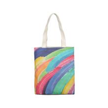 New style multi-colors graffiti art full color fashion leisure women canvas cotton tote bag