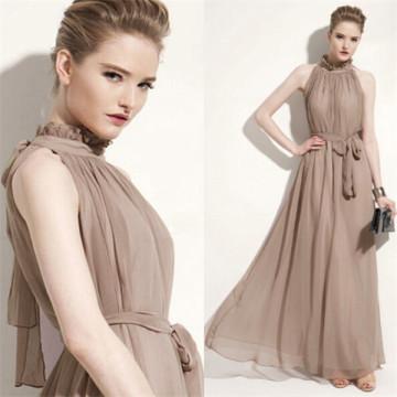 Women Dark Green Sleeveless Long Plus Size Prom Dresses
