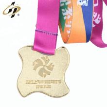 Medallas deportivas promocionales de metal personalizado con cinta