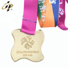 Promotional custom metal sports medals with ribbon