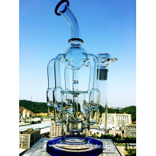 Wholesale 5 Branches Recycler Glass Smoking Pipe