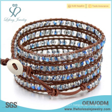 New arrival bohemian leather bracelets,leather beaded wrap bracelet
