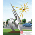 Plaza Handmade Stainless Steel Sculpture