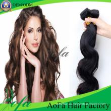 Extensión floja de la extensión del pelo humano de la onda floja trama peruana del pelo