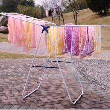 Hogar Blanco secador de ropa Rack, perchas de bebé nacido con tubo de hierro