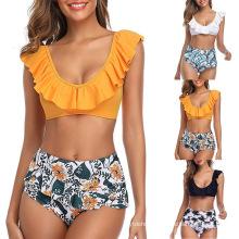 Bathers Ruffles Bathing Suit Push up Beach Wear Female Swimsuit