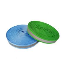 Wholesale reflective material colored nylon reflective sew ribbon strip customization