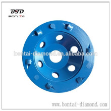 PCD grinding cup wheel for coating removal, expoxy and paint