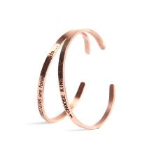 Bracelete feito sob encomenda de aço inoxidável da pulseira do punho da gravura do selo da amostra grátis