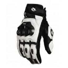 Luvas de esporte de motocicleta de couro de dedo cheio de proteção de choque resistentes para acampamento ao ar livre