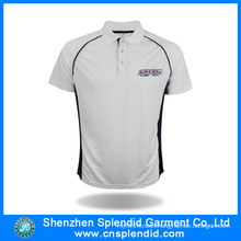 Cheap Custom Mens White Plain Golf Polo Shirt Design