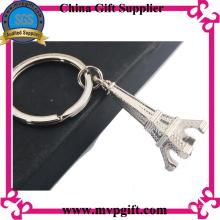Porte-clés en métal personnalisé avec gravure de logo 3D
