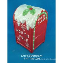 Handgemalte Keramik Post Box Cookie Jar