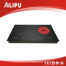Dual Burner with Metal Housing Inbuilt Style Induction Cooker+Infrared Cooker/Double Cooktop