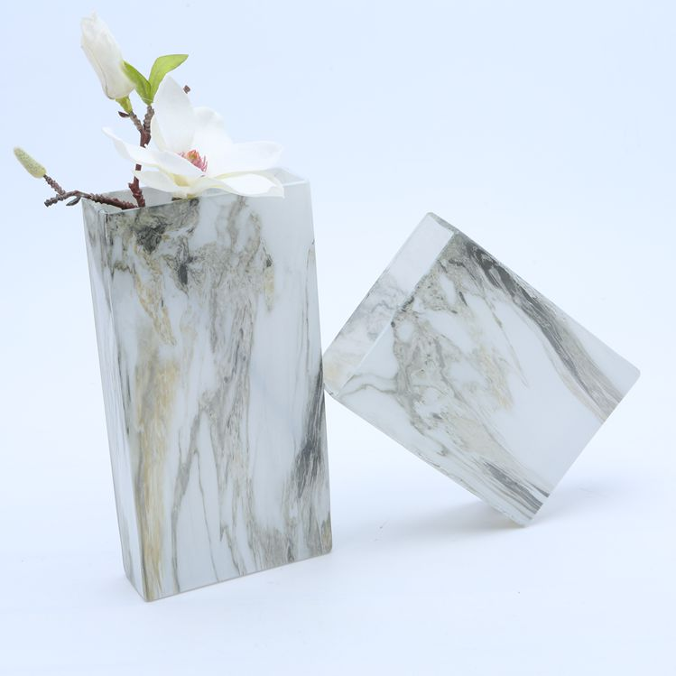 BR-51901-1cheap-marble-effect-square-glass-flower-vase