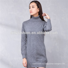 vestido de suéter de punto 100% vestido de suéter de niña de cashmere