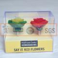 Divers modèles de bougies en forme de fleur