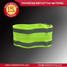 high visible reflective elastic hook and loop armband