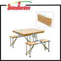 Outdoor Garden Wooden Portable Folding Camping Picnic Table With 4 Seats
