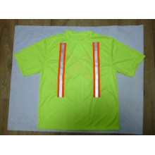 Reflective Safety T-Shirt Made of Bird Eye Fabric