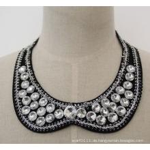 Hochwertige Runde Kristall Chunky Bib Choker Halskette Kragen (JE0032)