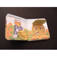 Impressão laminada do livro de cor das crianças / livro visível da água com folhas finas