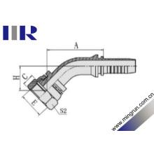 Raccord coudé hydraulique de siège plat de coude de 45 degrés (20241)