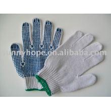 Пунктирная перчатка ПВХ для строительства