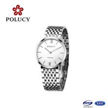 Marque chinoise montre en gros en acier inoxydable montre-bracelet simple