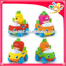 Mini Cartoon Fruit Friction Car Toys For Kids Mini Plastic Car