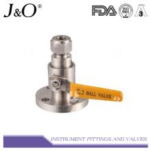 Válvula de esfera de pressão de aço inoxidável