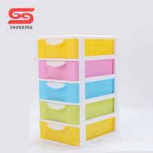 Cajones de almacenaje apilables de plástico de la caja de 5 capas de la oficina