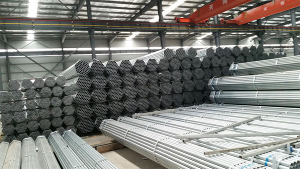 Galvanized welede steel pipe workshop
