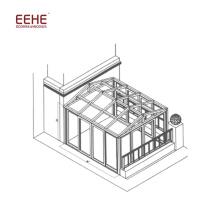 Panneaux de toit stratifiés Sunroom en polycarbonate à vendre