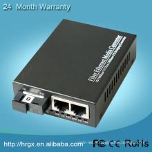 1 porta de fibra 2 RJ45 v.24 para conversor ethernet
