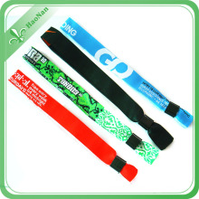 Custom Woven Wristband Small Min Quantity for Single Festival