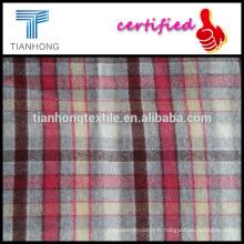 2016 nouvelle conception 100 coton arête de hareng tisser laine sentiment flanelle tissu pour chemise