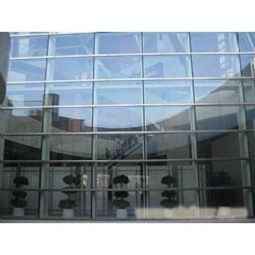 Rideaux en verre, mur-rideau en verre, profil de mur-rideau