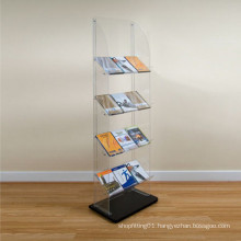 4 Layers Acrylic Display Stand/Acrylic Display Rack for Magazine, Book