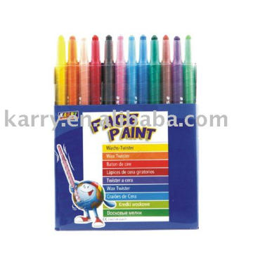 12-color crayon(with plastic cement)