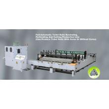 Vollautomatische Toilettenpapierrückspulen, Prägen, Perforieren und Schneiden von Produktionslinien